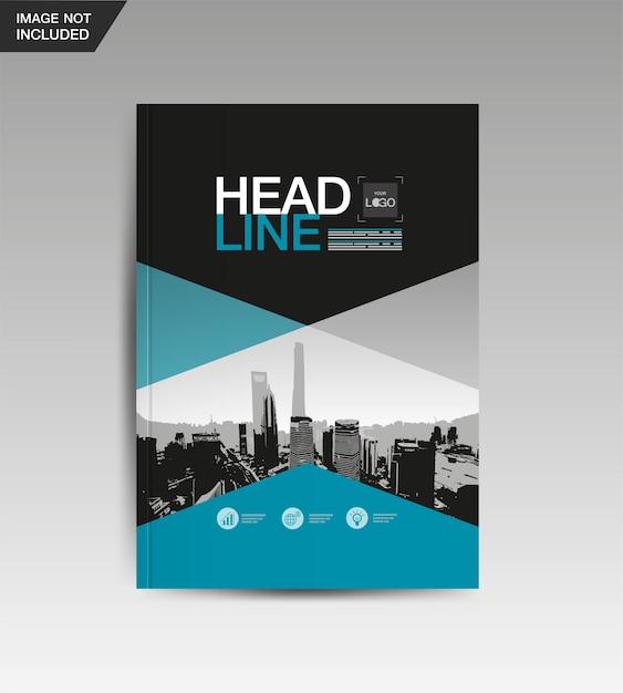 Modèle de conception de mise en page, livre de couverture, vecteur Vecteur Premium