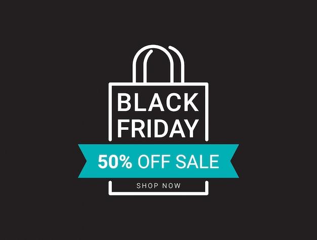 Modèle de conception noir vendredi vente bannière mise en page. Vecteur Premium