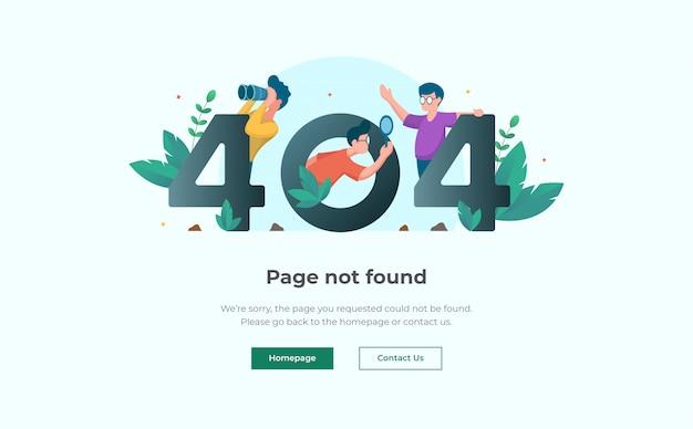 Modèle De Conception De Page De Destination D'erreur 404 Vecteur Premium