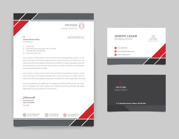 Modèle De Conception De Papier à En-tête D'entreprise Vecteur Premium