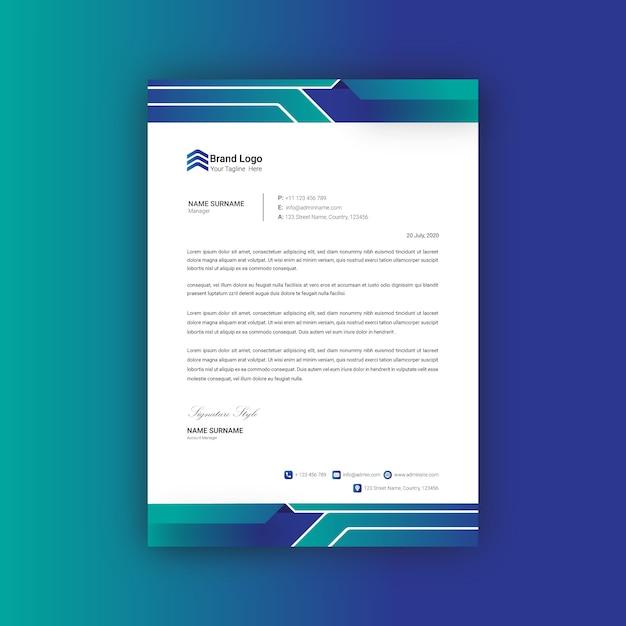 Modèle De Conception De Papier à En-tête Vecteur Premium