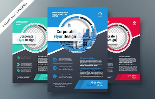 Modèle de conception de prospectus d'entreprise Vecteur Premium