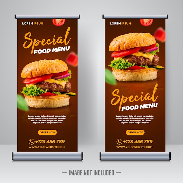 Modèle De Conception De Publication De Bannière De Médias Sociaux De Nourriture De Restaurant Vecteur Premium