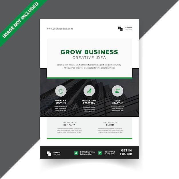 Modèle de conception simple flyer d'entreprise Vecteur Premium