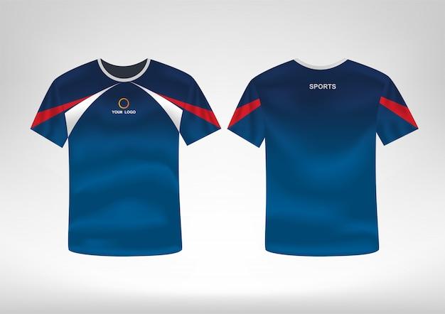 Modèle De Conception De T-shirt Sport Vecteur Premium