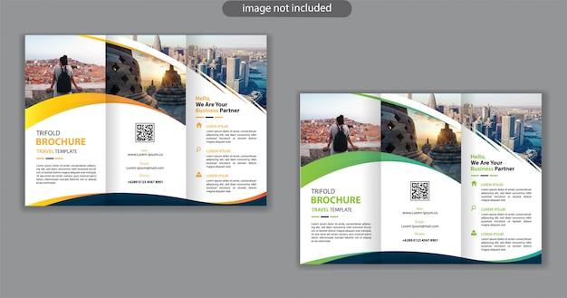 Modèle De Conception à Trois Volets Pour La Brochure De Marketing De Fond Vecteur Premium