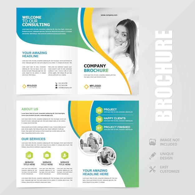 Modèle de conception vecteur entreprise polyvalente a4 brochure Vecteur Premium