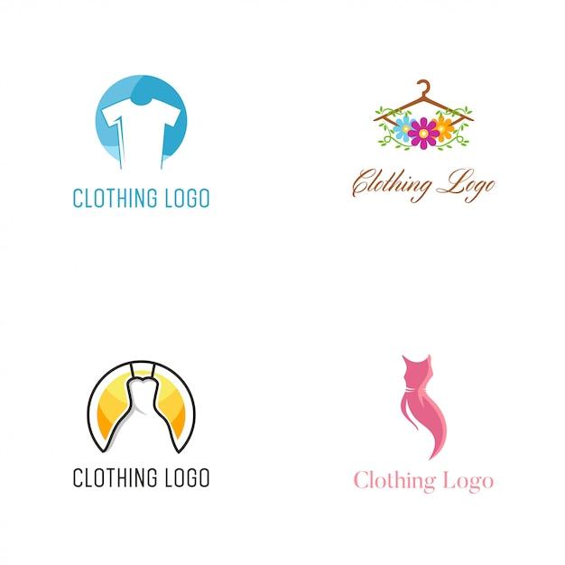 Modèle de conception de vêtements logo vector Vecteur Premium