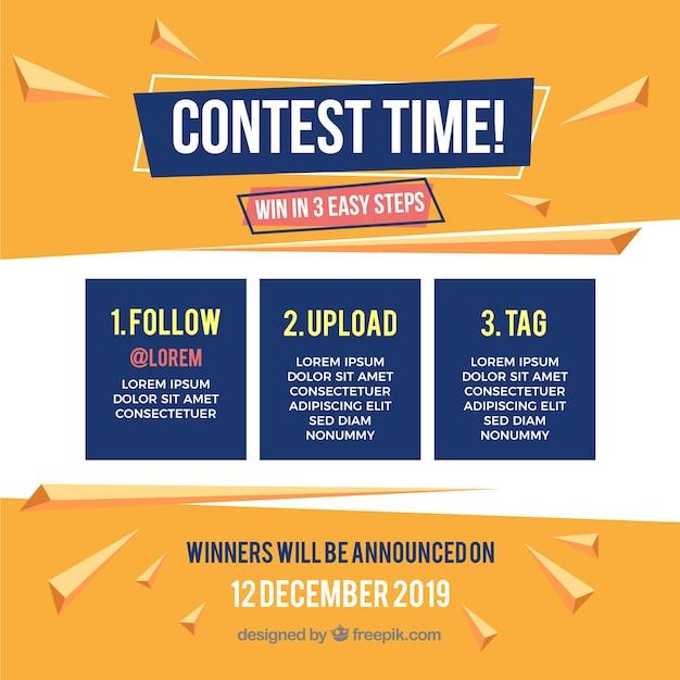 Modèle de concours de médias sociaux Vecteur gratuit