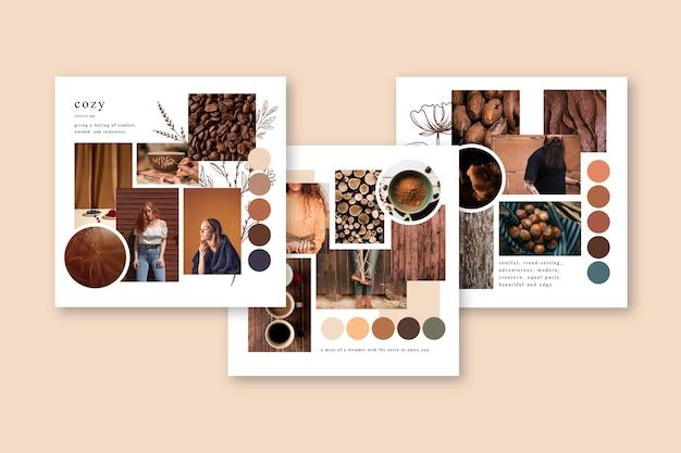 Modèle de conseil humeur en couleurs d'automne Vecteur gratuit