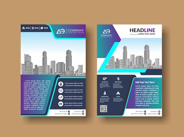 Modèle de couverture a4 taille business brochure design Vecteur Premium