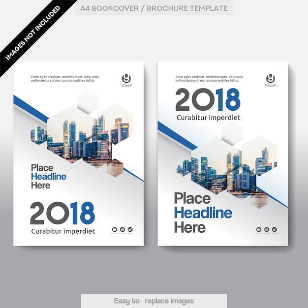 Modèle de couverture de couverture de livre d'affaires de la ville Vecteur Premium