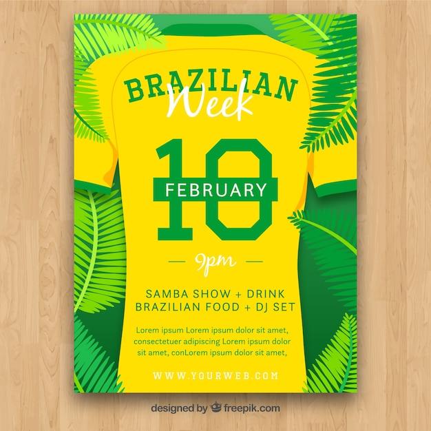 Modèle de couverture créative de carnaval brésilien Vecteur gratuit