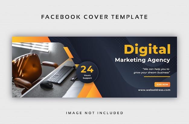 Modèle De Couverture Facebook Abstrait D'entreprise Vecteur Premium
