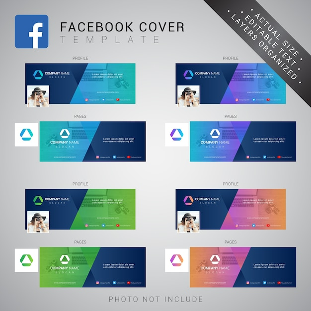 Modèle de couverture facebook Vecteur Premium