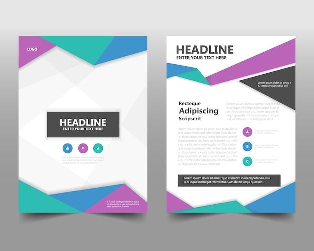 Modèle de couverture de livre de rapport annuel créatif coloré Vecteur gratuit