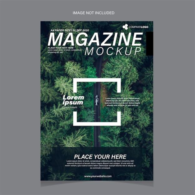 Modèle De Couverture De Magazine Contenant Une Image D'arbres Vecteur gratuit