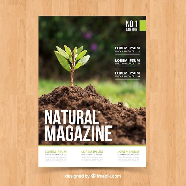 Modèle De Couverture De Magazine Nature Avec Photo ...