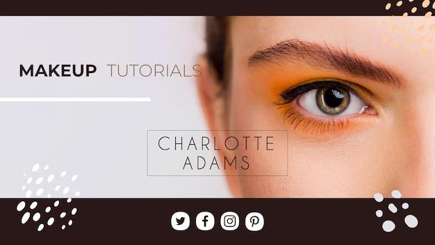 Modèle De Couverture De Maquillage Youtube Vecteur gratuit