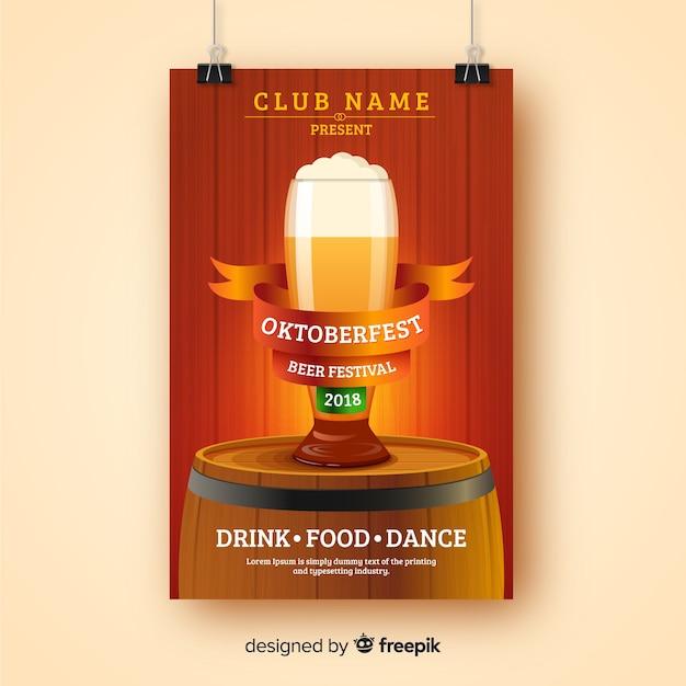 Modèle de couverture oktoberfest moderne Vecteur gratuit