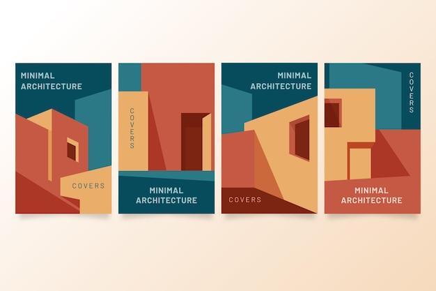 Modèle De Couvertures D'architecture Minimale Vecteur gratuit