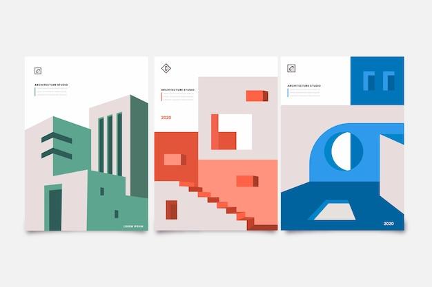 Modèle De Couvertures D'architecture Minimale Vecteur Premium
