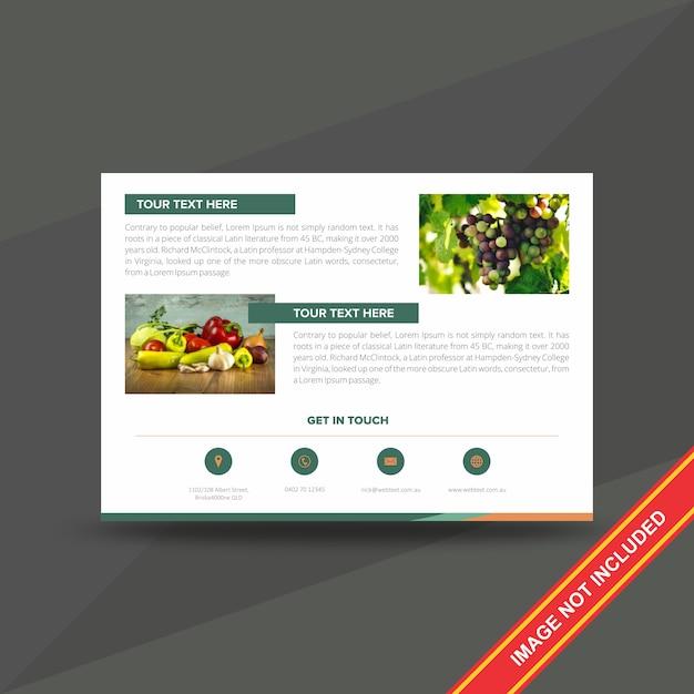 Modèle de création de flyer d'entreprise créative Vecteur Premium