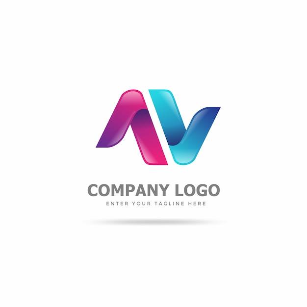 Modèle de création de logo créatif & moderne Vecteur Premium