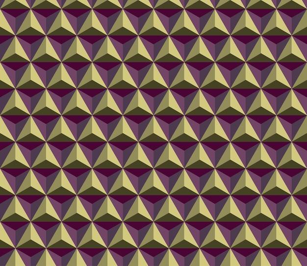 Modèle de cube triangle sans soudure. Vecteur Premium