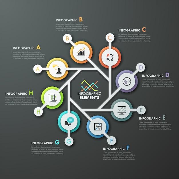 Modèle De Cycle D'infographie Moderne Avec 4 Flèches En Papier Vecteur Premium