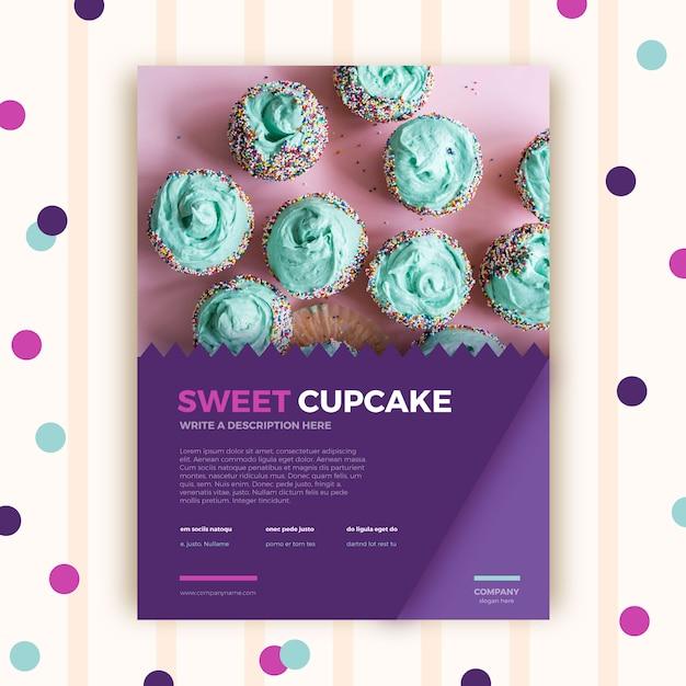 Modèle de brochure de pâtisserie Vecteur gratuit
