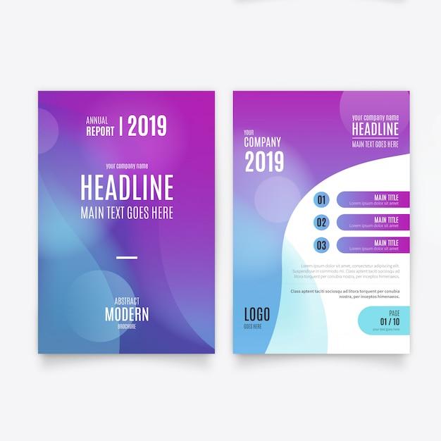 Modèle de Brochure de résumé Vecteur gratuit
