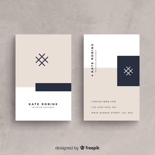 Modèle de carte de visite moderne avec style élégant Vecteur gratuit