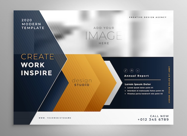 Modèle de conception de brochure professionnelle abstraite Vecteur gratuit
