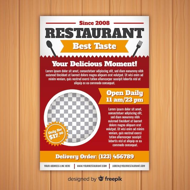 Modèle de flyer de restaurant moderne Vecteur gratuit