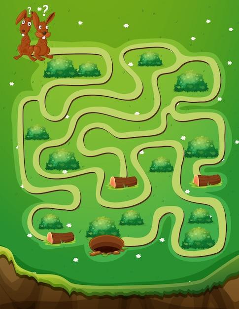 mod u00e8le de jeu avec des lapins et des trous
