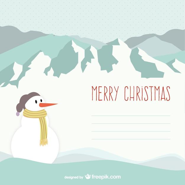 Mod le de joyeux no l avec bonhomme de neige t l charger des vecteurs gratuitement - Modele bonhomme de neige ...