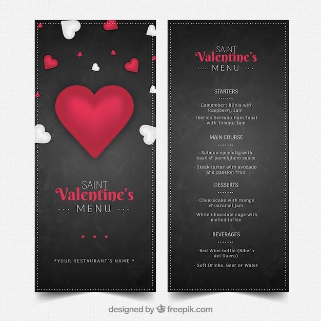 Mod le de menu l gante saint valentin fonc t l charger - Image st valentin a telecharger gratuitement ...