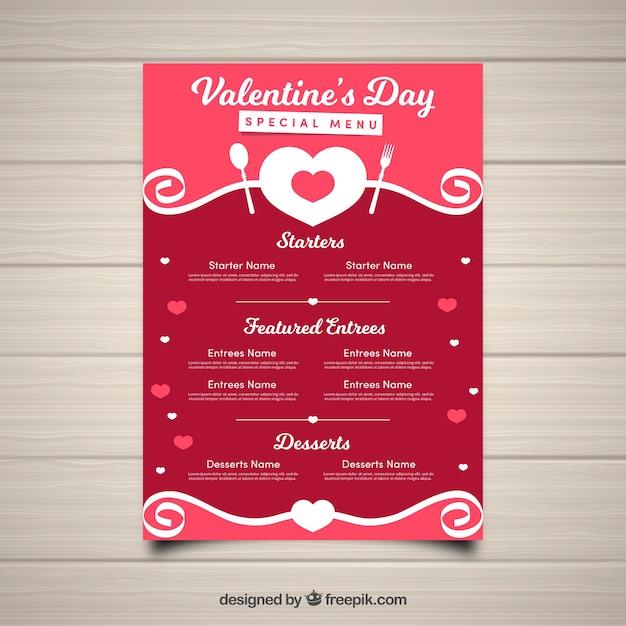 Mod le de menu rouge saint valentin t l charger des - Image st valentin a telecharger gratuitement ...