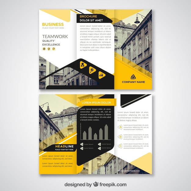 mod u00e8le de triptyque abstrait noir et jaune