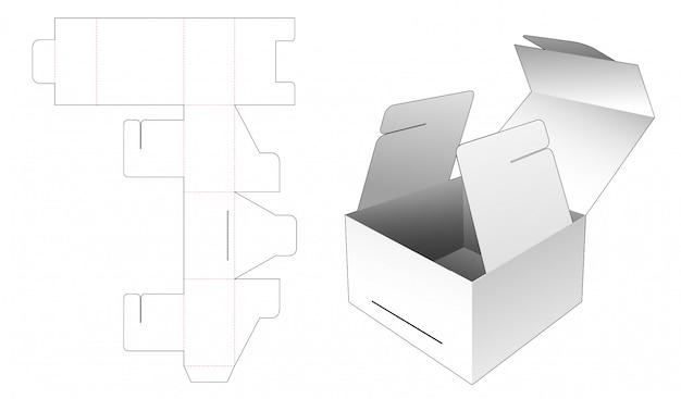 Modèle De Découpe D'emballage De Boîte-cadeau Vecteur Premium