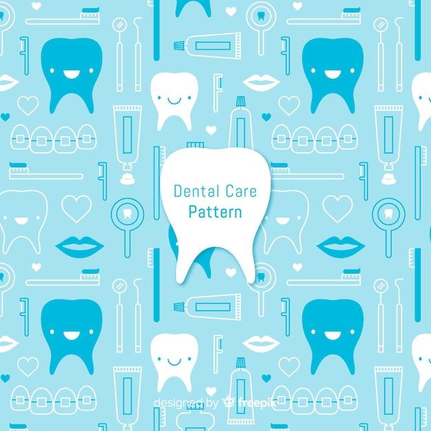 Modèle de dentiste plat Vecteur gratuit