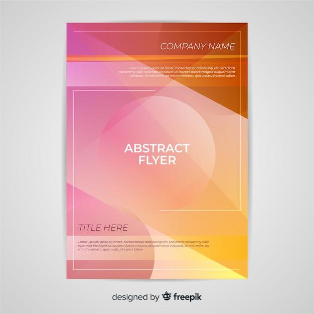 Modèle de dépliant abstrait Vecteur gratuit