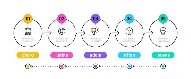 Modèle De Diagramme De Workflow D'options Vecteur Premium