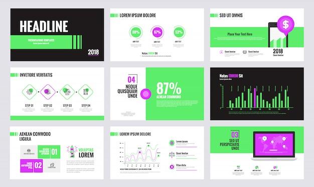 Modèle De Diapositive D'infographie Vecteur Premium