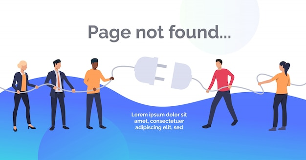 Modèle De Diapositive Non Trouvé Vecteur gratuit