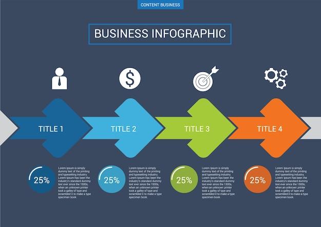 Modèle de diapositive de présentation d'entreprise infographique Vecteur Premium
