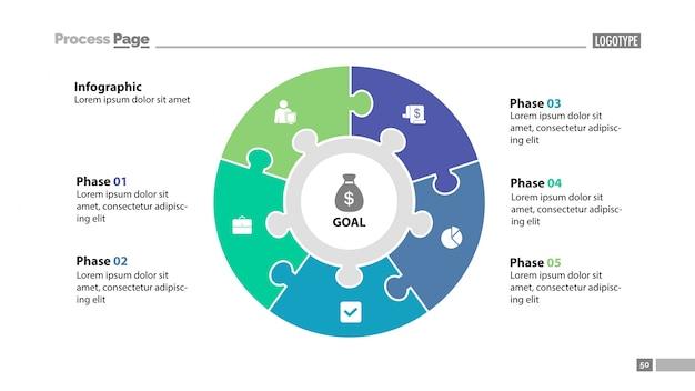 Modèle De Diapositives à Cinq éléments Vecteur gratuit