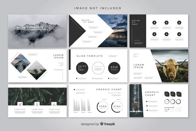Modèle De Diapositives Minimal Vecteur gratuit