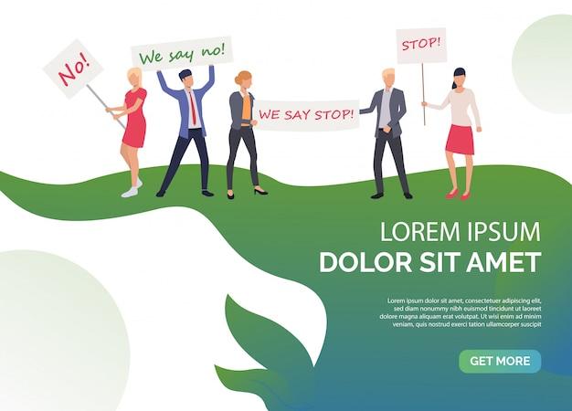 Modèle de droits de glissement de féminisme vert Vecteur gratuit